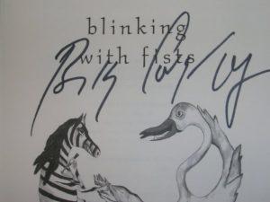 libro billy corgan blinking with fists autografiado
