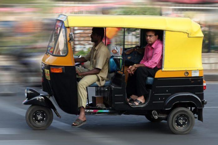 rickshaw india foto