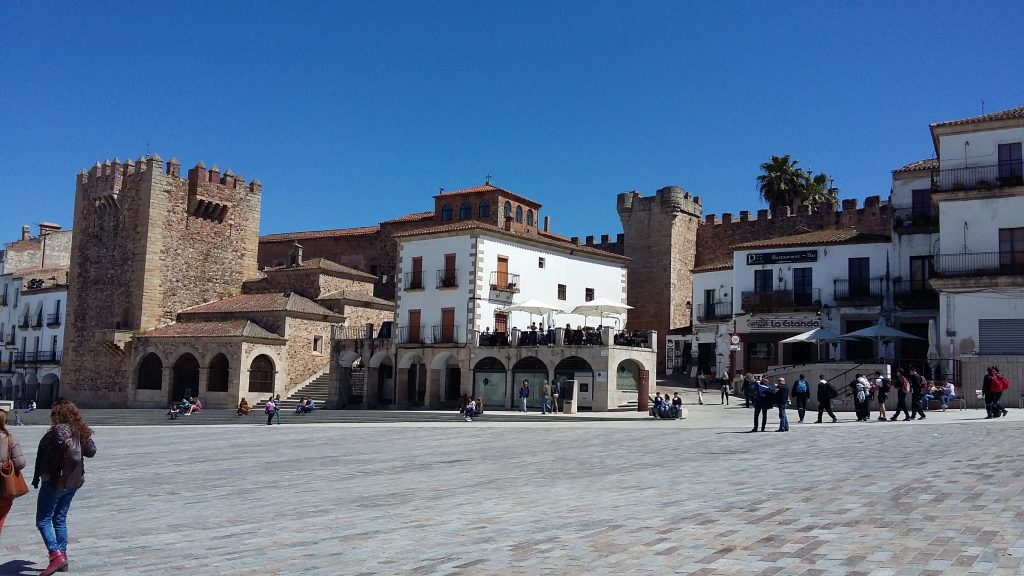 plaza mayor, cáceres