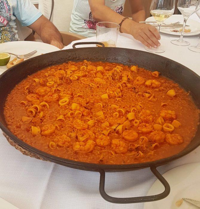 Paella de Mariscos, Murcia, Restaurante el Pulpito