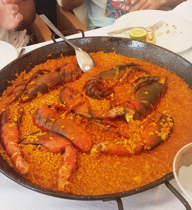 Paella Bogavante, Murcia, Restaurante el Pulpito